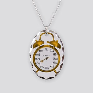 Due in Aug Gold Alarm Necklace Oval Charm