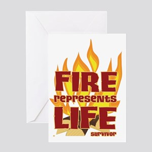 Fire Represents Life Greeting Card