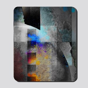 Industrial Grunge with Gray and Blue Mousepad