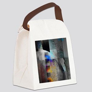 Industrial Grunge with Gray and B Canvas Lunch Bag
