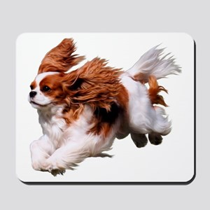 Cavalier Running- Blenheim Mousepad
