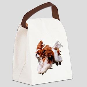 Cavalier Running- Blenheim Canvas Lunch Bag