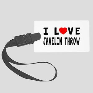 I Love Javelin Throw Large Luggage Tag
