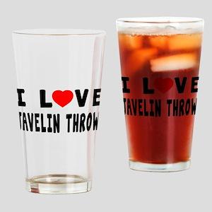 I Love Javelin Throw Drinking Glass