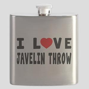 I Love Javelin Throw Flask