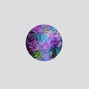 Disco Mirrors in Purple and Green Mini Button