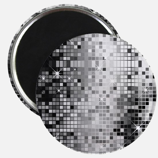 Disco Mirrors in Black and White Magnet