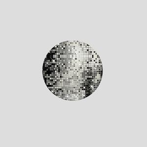 Disco Mirrors in Black and White Mini Button