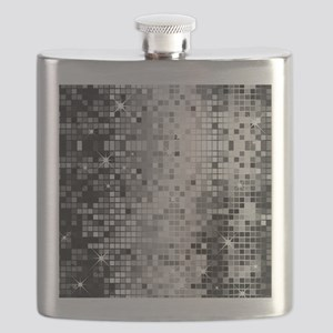 Disco Mirrors in Black and White Flask