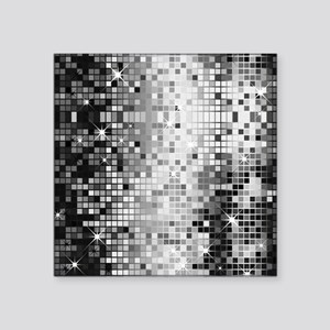 "Disco Mirrors in Black and  Square Sticker 3"" x 3"""