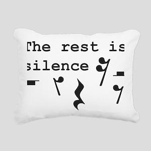 The rest is silence Rectangular Canvas Pillow