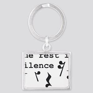 The rest is silence Landscape Keychain