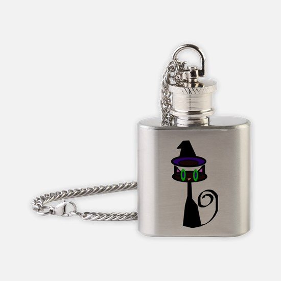 Witchy little cat Flask Necklace