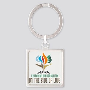 UU On the Side of Love Square Keychain