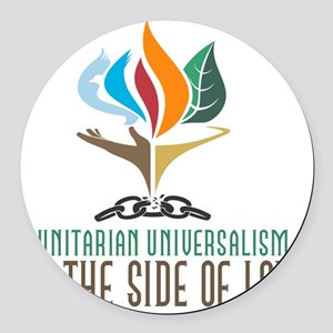 UU On the Side of Love Round Car Magnet