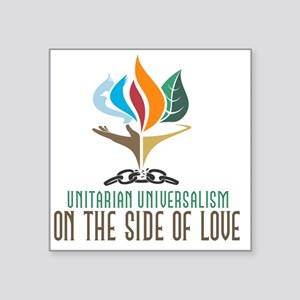 """UU On the Side of Love Square Sticker 3"""" x 3"""""""