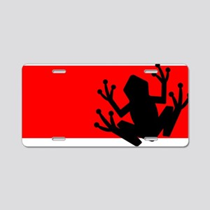 Black frog Aluminum License Plate