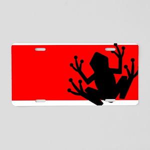 Black frog Aluminum License Plate