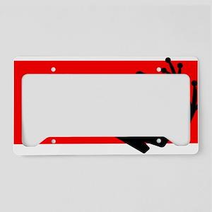 Black frog License Plate Holder