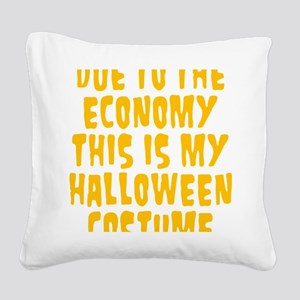 Halloween Costume Square Canvas Pillow