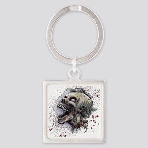 Zombie head Square Keychain