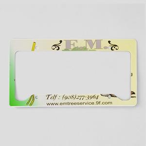 EM Tree Service License Plate Holder