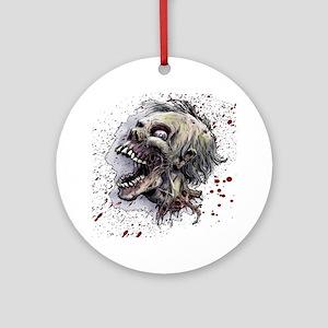 Zombie head Round Ornament