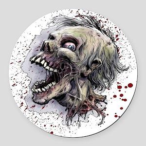 Zombie head Round Car Magnet