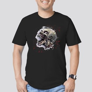 Zombie head Men's Fitted T-Shirt (dark)
