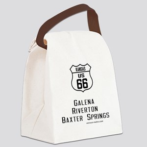 US Route 66 Kansas Cities Canvas Lunch Bag