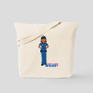 Woman Police Officer Dark Tote Bag