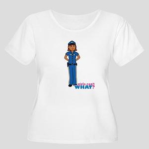 Woman Police Officer Dark Women's Plus Size Scoop
