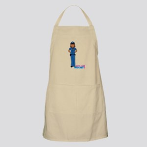 Woman Police Officer Dark Apron