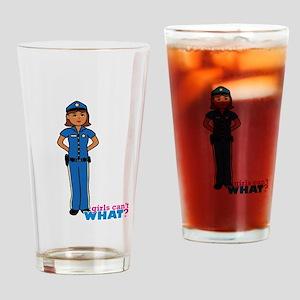 Woman Police Officer Dark Drinking Glass