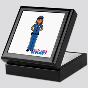 Woman Police Officer Dark Keepsake Box