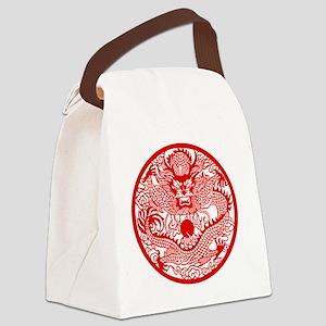 Asian Dragon Canvas Lunch Bag