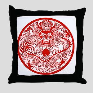Asian Dragon Throw Pillow