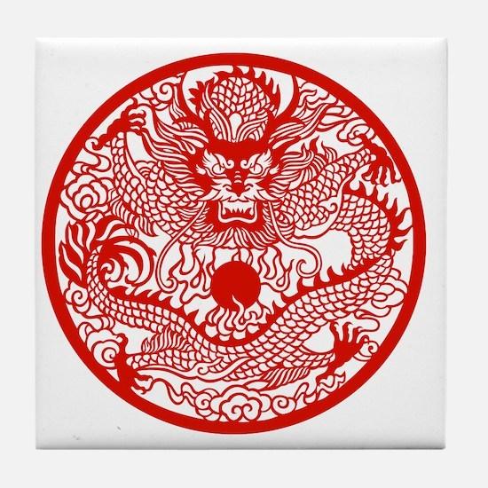 Asian Dragon Tile Coaster