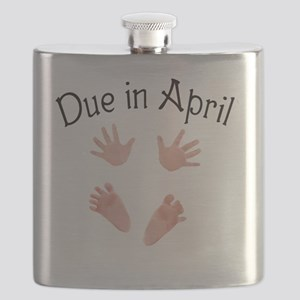 Due in April Baby Hands and Feet Flask