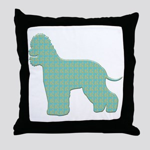 Paisley Spaniel Throw Pillow