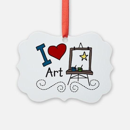 I Love Art Ornament