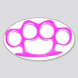 Knuckle Duster Sticker (Oval)