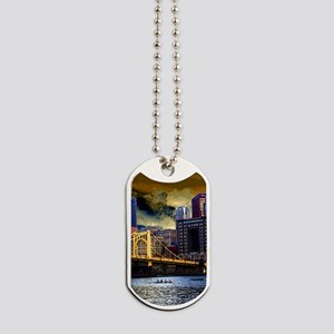 Downtown Pittsburgh from the North Shore  Dog Tags