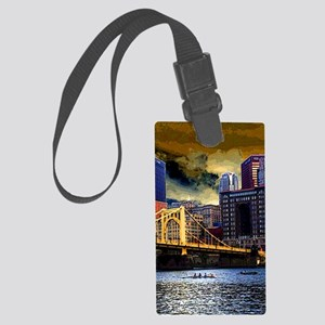 Downtown Pittsburgh from the Nor Large Luggage Tag