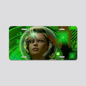 Bubblehead Green Screen Aluminum License Plate