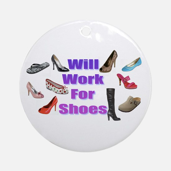 Shoe Ornament (Round)