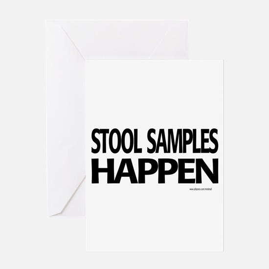 stool samples happen Greeting Cards