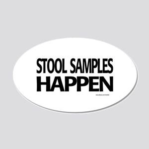 stool samples happen Wall Decal