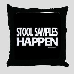 stool samples happen Throw Pillow