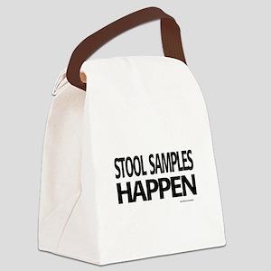 stool samples happen Canvas Lunch Bag